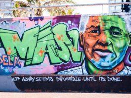 Graffriti representando Nelson Mandela