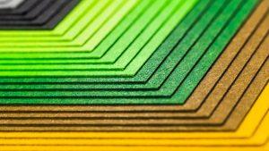Cartões coloridos