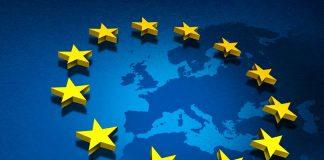 Bandeira e mapa da UE