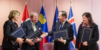 Representantes dos países fundadores do EEA Grants assinam protocolo com a União Europeia