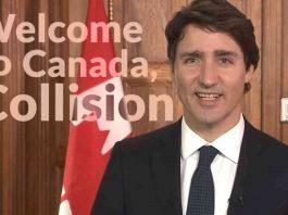 Primeiro-Ministro do Canadá dá as boas-vindas à conferência Collision