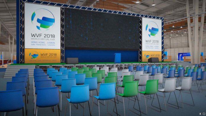 Sala de conferências na World Virtual Fair