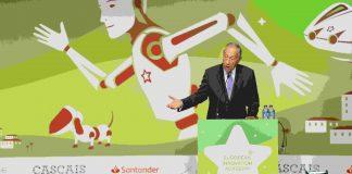 Presidente da Republica falando na sessão de abertura da European Innovation Academy