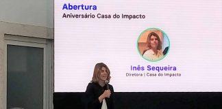 Inês Sequeira discursando