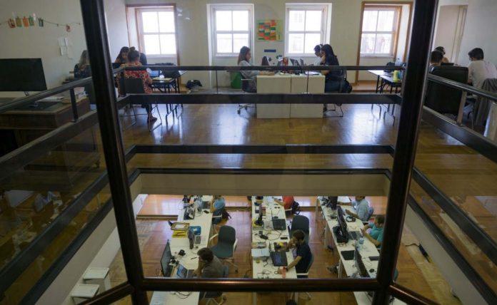 Escritório de startup tecnológica
