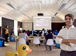 João Magalhães, CEO da Code For All, na apresentação da estratégia de internacionalização da empresa