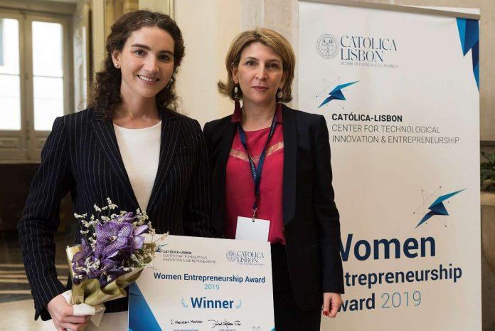 vencedora do Women Entrepreneurship Award 2019