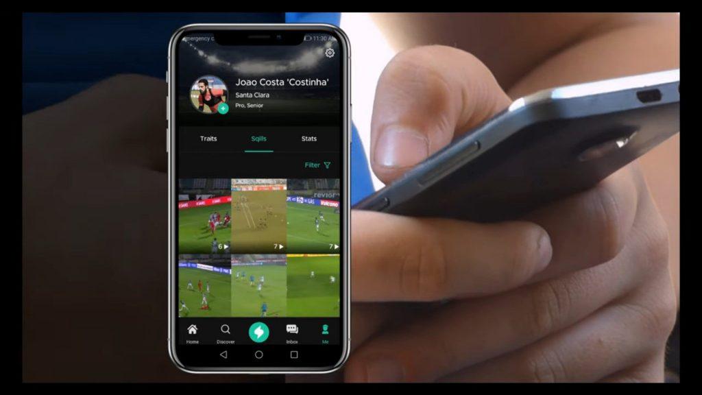 aspeto visual da app num smartphone