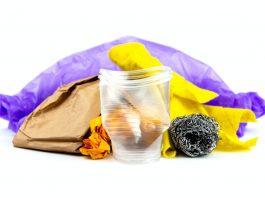 lixo doméstico para reciclagem